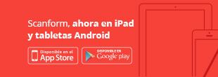 imagen scanform en ipad y tabletas android